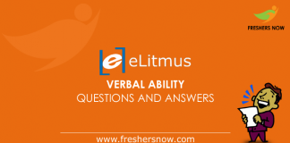 eLitmus Verbal Ability Questions and Answers