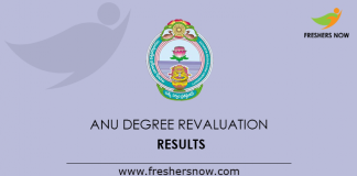 ANU Degree Revaluation Results