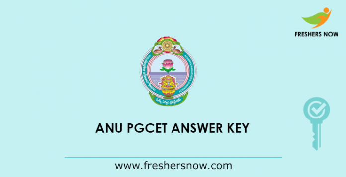 ANU PGCET Answer Key