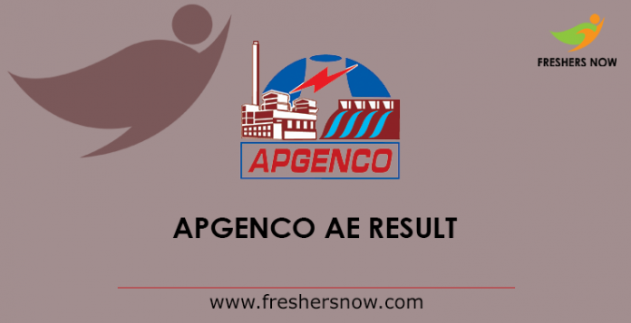 APGENCO Assistant Engineer Results 2019