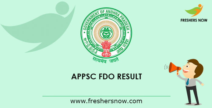 APPSC FDO Mains Result 2019 \