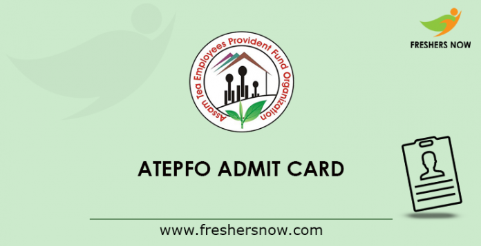 ATEPFO Admit Card