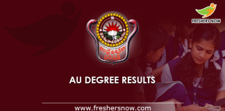 AU Degree Results