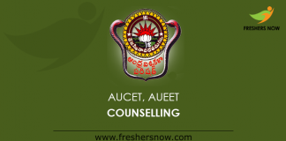 AUCET, AUEET Counselling