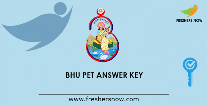 BHU PET Answer Key 2019