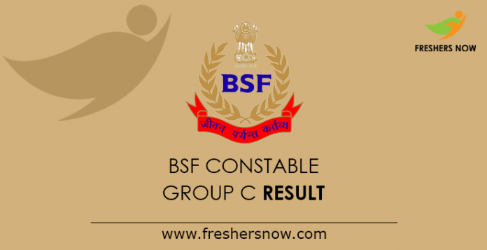 BSF Constable Group C Result 2019