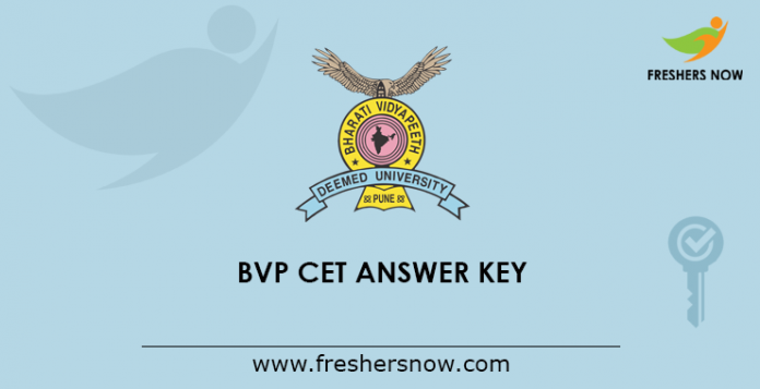BVP CET Answer Key 2019