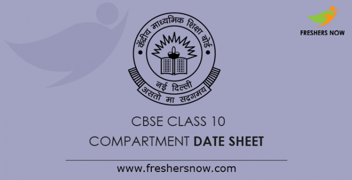 CBSE Class 10th, 12th Compartment Date Sheet 2019