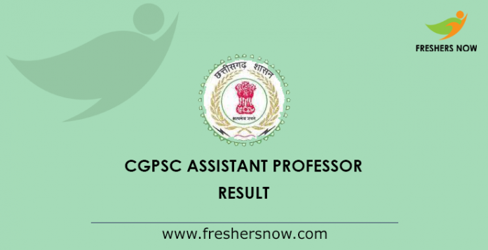 CGPSC Assistant Professor Result 2019