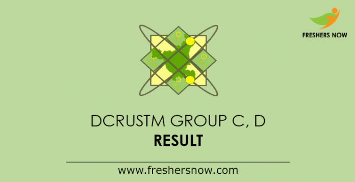DCRUSTM Group C D Result 2019