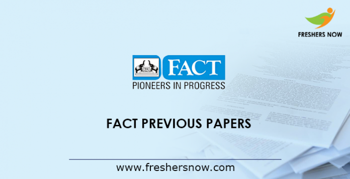 FACT Previous Papers