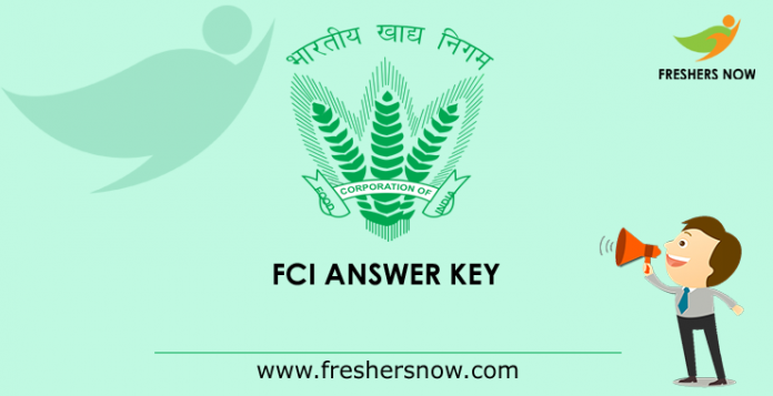 FCI Answer Key 2019