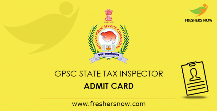 GPSC State Tax Inspector Admit Card 2019
