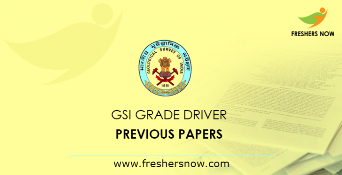 GSI Grade Driver Previous Papers