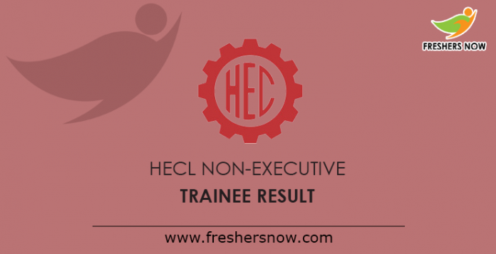 HECL Non-Executive Trainee Result 2019