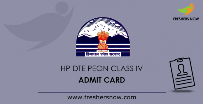 HP DTE Peon Class IV Admit Card 2019