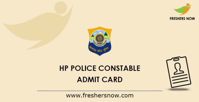 HP Police Officer Admission Card