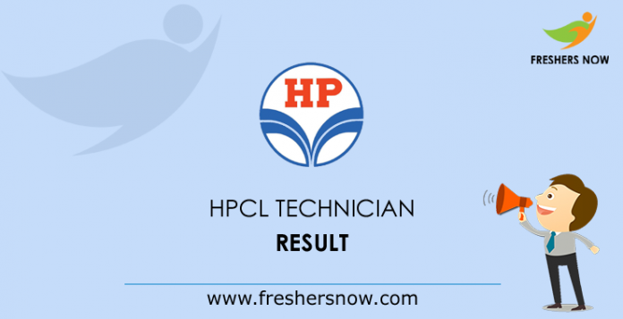 HPCL Technician Result 2019