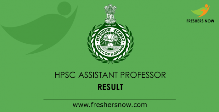 HPSC Assistant Professor Result 2019