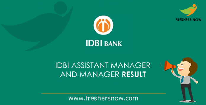 IDBI-Assistant-Manager result