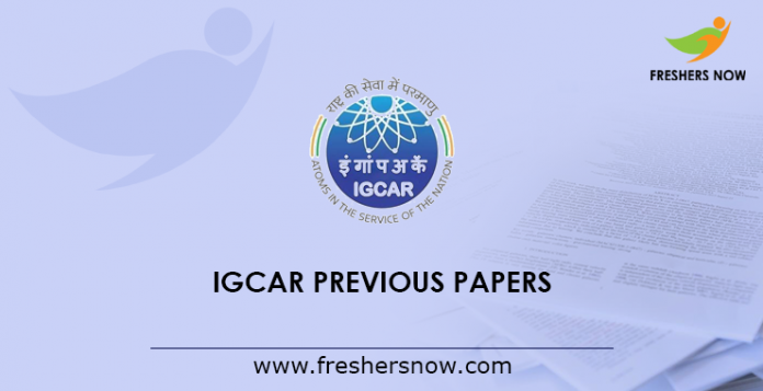 IGCAR JRF Previous Papers