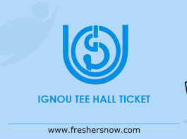 IGNOU TEE Hall Ticket 2019