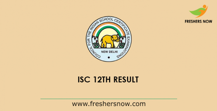 ISC 12th Result 2019