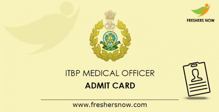 ITBP Medical Officer Admit Card 2019