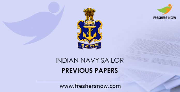 Indian Navy Sailor Previous Papers