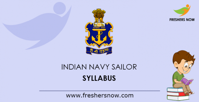 Indian Navy Sailor Syllabus 2019