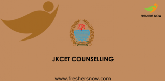 JKCET Counselling 2019