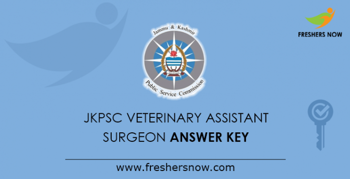 JKPSC Veterinary Assistant Surgeon Answer Key 2019