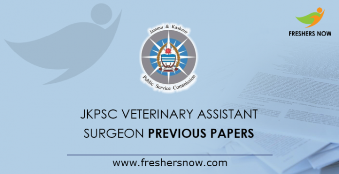 JKPSC Veterinary Assistant Surgeon Previous Papers