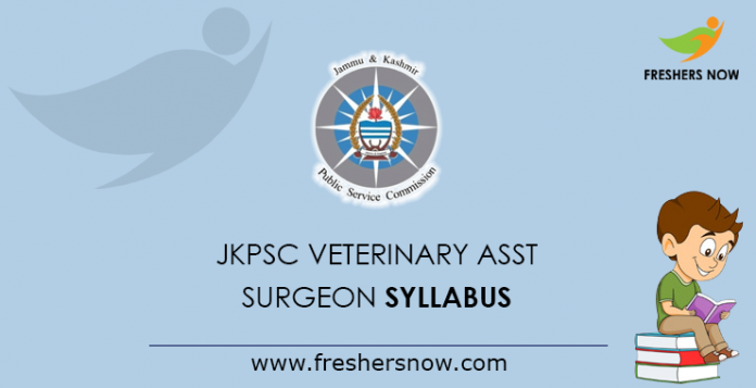 JKPSC Veterinary Assistant Surgeon Syllabus 2019