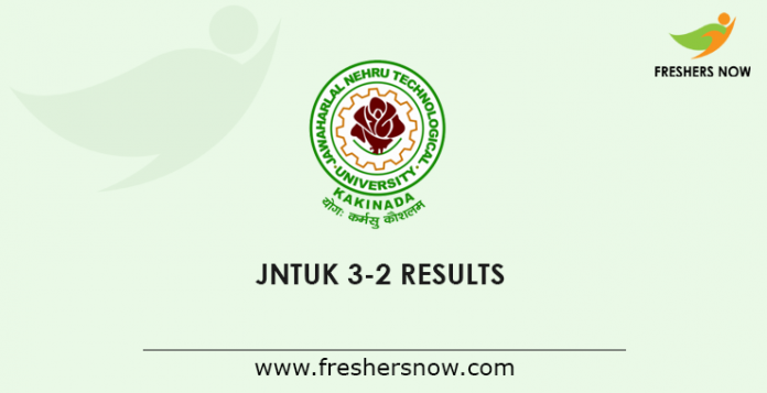 JNTUK B.Tech 3-2 Results 2019