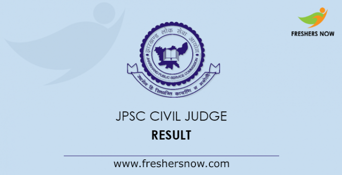 JPSC Civil Judge Result 2019