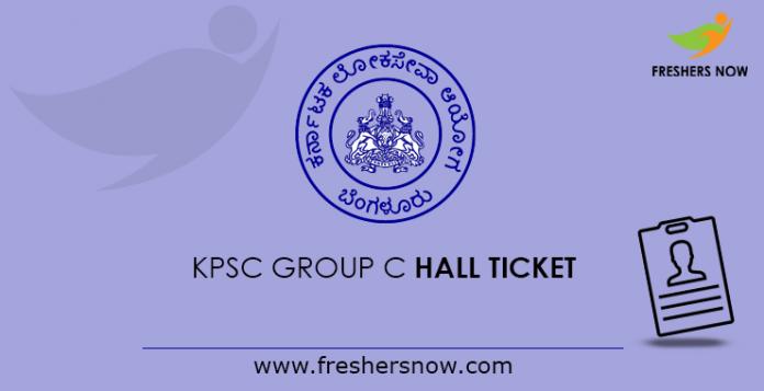 KPSC Group C Hall Ticket 2019