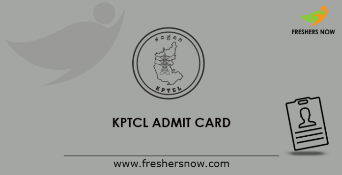 KPTCL Admit Card 2019