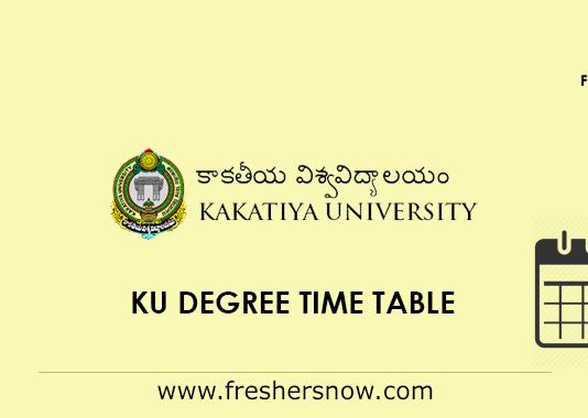 KU Degree Time Table