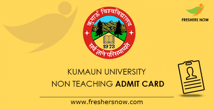 Kumaun University Non Teaching Admit Card 2019