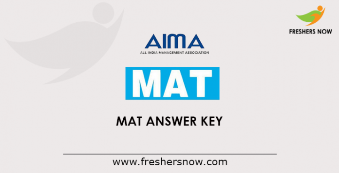 MAT Answer Key 2019