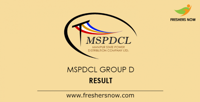 MSPDCL Group D Result 2019