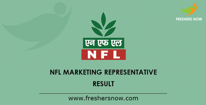 NFL Marketing Representative Result 2019