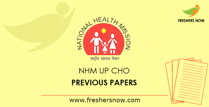 NHM UP CHO Previous Question Papers PDF Download with Solutions