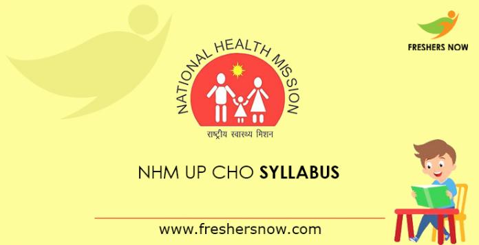 NHM UP CHO Syllabus 2019