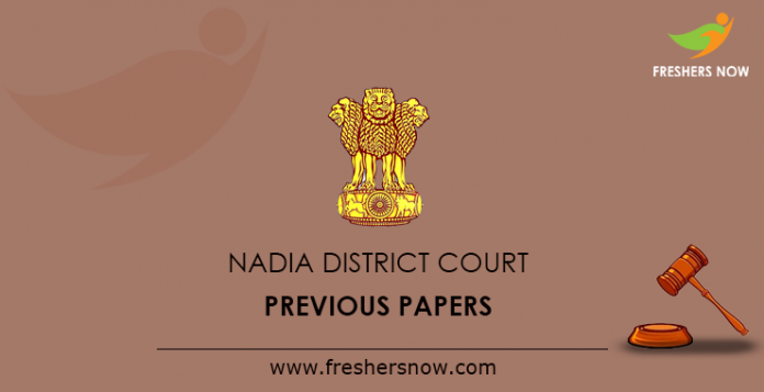 Nadia District Court Previous Papers