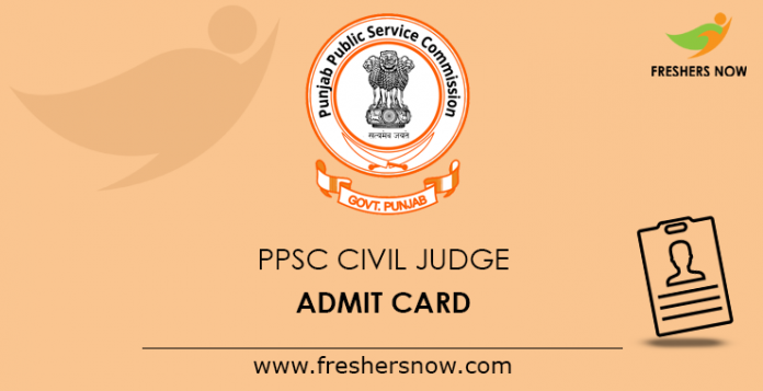 PPSC Civil Judge Admit Card 2019