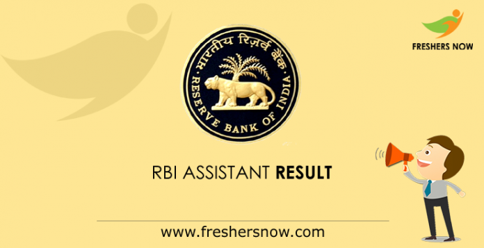 RBI Assistant Result 2019