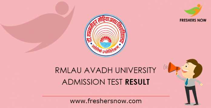 RMLAU Avadh University Admission Test Result 2019 | UG, PG