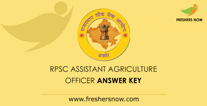 RPSC Assistant Agriculture Officer Answer Key 2019